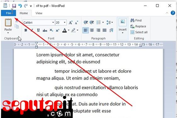 cara membuat file pdf tanpa word menggunakan wordpad