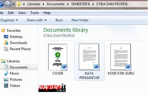 contoh penomoran manual dengan memisahkan dokumen ke dokumen baru