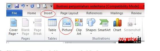 cara memasukkan gambar