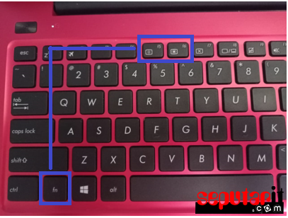 ini cara mengatur kecerahan layar laptop dengan keyboard