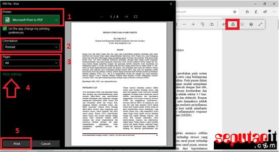 cara print pdf full kertas anti ribet