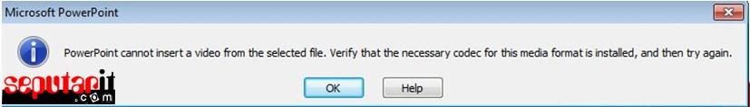penyebab video tidak dapat diputar di powerpoint
