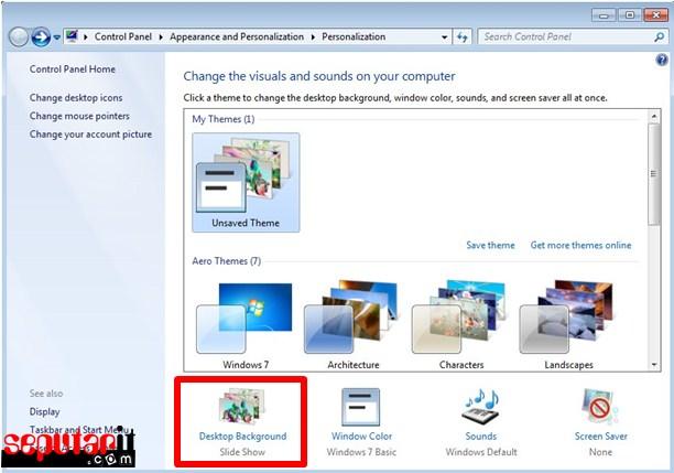 dekstop background atau layar belakang laptop