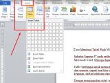 Cara Membuat Tabel Pada Microsoft Word