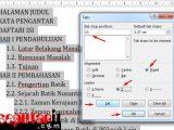 cara Membuat Daftar Isi Secara Manual di MS Word